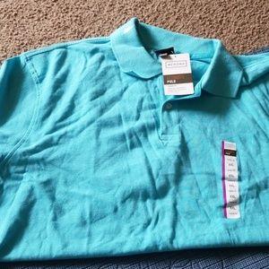 Light blue xxl mens merona polo shirt